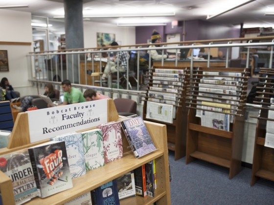 A view of the commons area of the Renne Library. | MSU photo by Kelly Gorham
