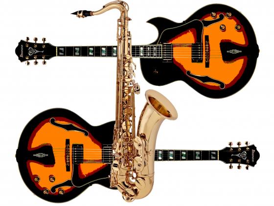 Jazz guitars and saxophone