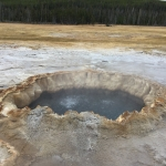 Hot springs, such as those in Yellowstone National Park, host microbial communities supported by mineral forms of energy. As such, they provide a readily accessible portal for studying the processes that give rise to nutrients that support microbial life in the deep, hot biosphere. Photo courtesy Eric Boyd.