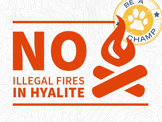 No Illegal Fires in Hyalite |