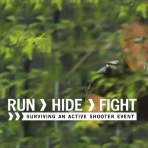 Run, Hide, Fight. Surviving an active shooter event