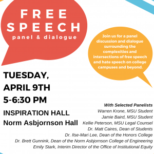 Free Speech: A Panel and Dialogue