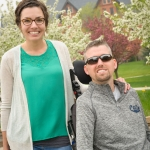 Sarah and Scott Thomas pose for a photo by Montana Hall while visiting Montana State Univeristy on Friday, May 6, 2016 before commencement ceremonies. Scott Thomas will graduate with a degree from the Jake Jabs College of Business and Entrepreneurship. MSU photo by Kelly Gorham