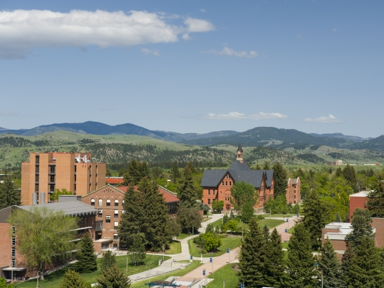 Aerial view of campus  |