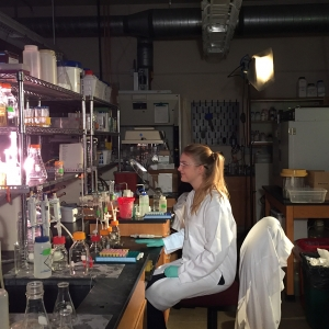 Engineering student in laboratory