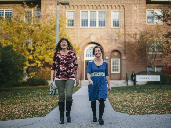 Suzanne Held and Alma McCormick Receive Grant for Continued Work at Messengers for Health | MSU Photo by Adrian Sanchez-Gonzalez