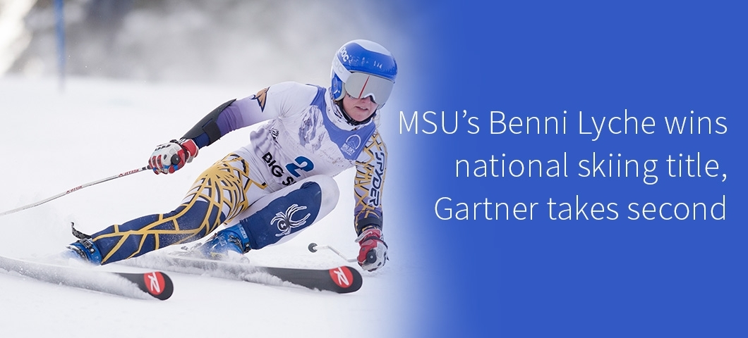 Business student Benni Lyche wins national skiing title, Gartner takes second.