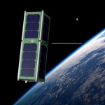 A rendering of a RadSat, which will be launched from the International Space Station in March 2018. Courtesy Brock LaMeres