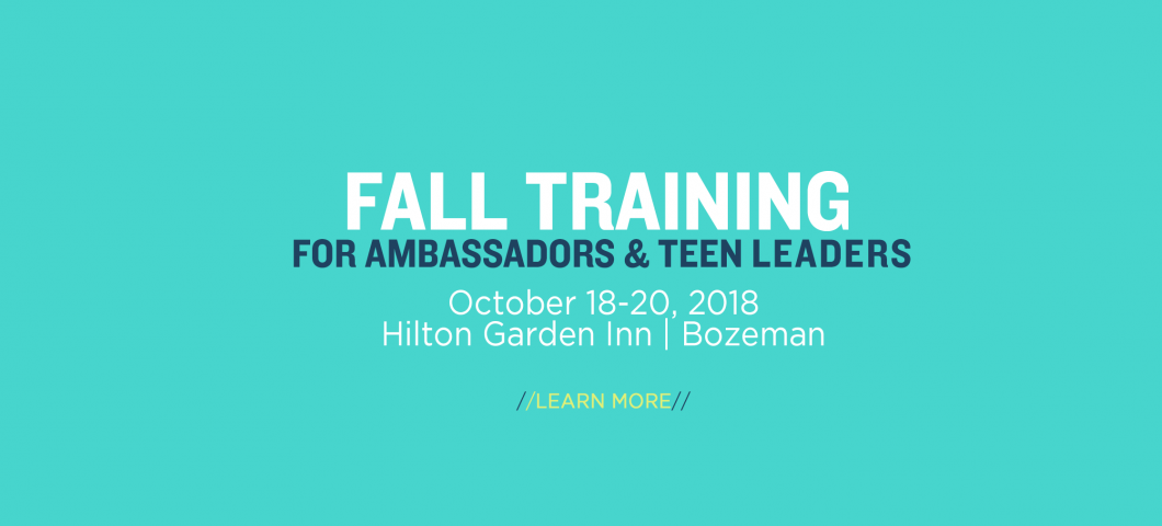 Fall Ambassador & Teen Leader Training