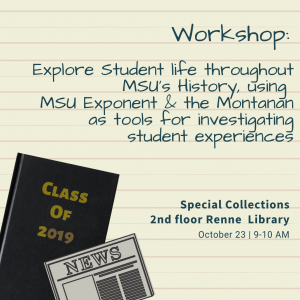 Decades of Discovery: Student Life Throughout MSU History Workshop