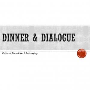 dinner & dialogue sign