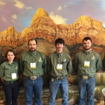Members of MSU's Undergraduate Range Management Exam team who won fifth place at the annual Society for Range Management meeting in St. George, Utah, earlier this year are from left: Connor Hodgskiss, Loni Blackman, Brandon Gould, Weston Helle, John Walker and Noah Davis. Photo courtesy Craig Carr.