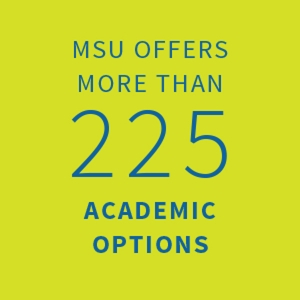 MSU offers more than 225 academic options |