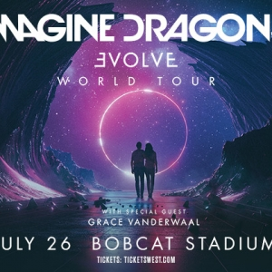 Imagine Dragons in concert at Bobcat Stadium on July 26