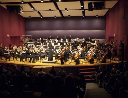MSU Symphony Orchestra performing in October 2009