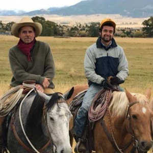 Ford and Vern Smith on horses in paradise valley