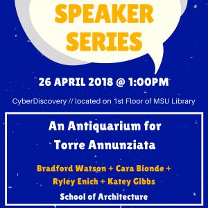 DISC Speaker Series Promotional Poster Bradford Watson 2018.04.26