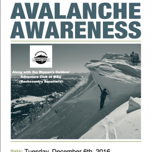 FREE Avalanche Awareness Talk With GNFAC and Womens Outdoor Adventure Club @ MSU