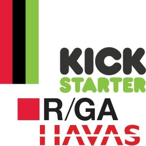 R/GA, Havas and Kickstarter logo