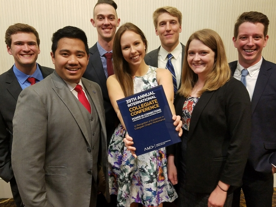 Members of the MSU American Marketing Association chapter at the 39th Annual International Collegiate Conference. | Submitted photo