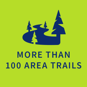 More than 100 area trails |