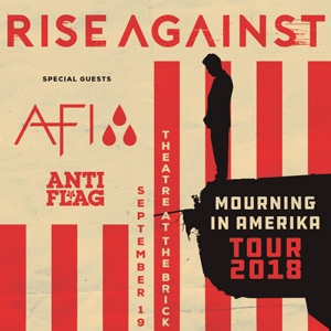 Rise Against - Mourning in Amerika Tour with AFI and AntiFlag