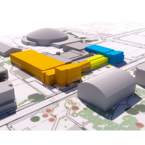 3-D conceptual view of new Student Wellness Center
