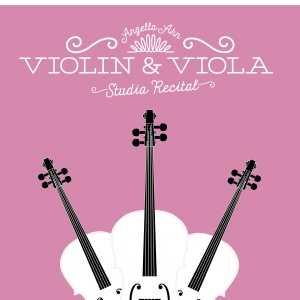 3 violins on a poster