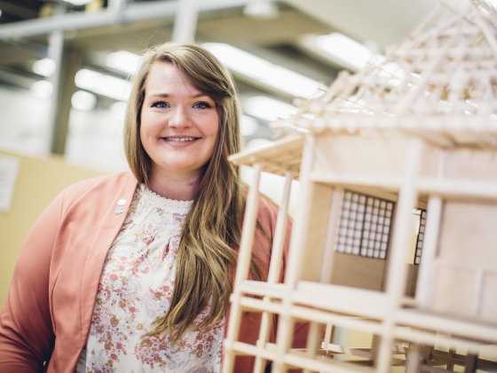 Elizabeth Siedel Elected to National Student Architecture Board | MSU Photo by Adrian Sanchez-Gonzalez