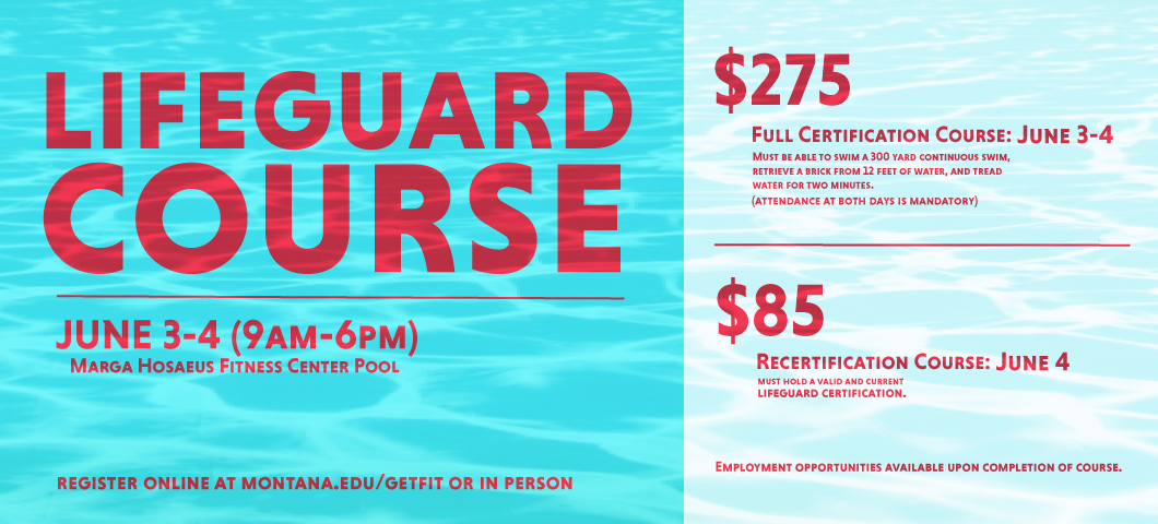 Lifeguard Certification Course at the Hosaeus Fitness Center