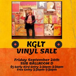 KGLT Vinyl Sale