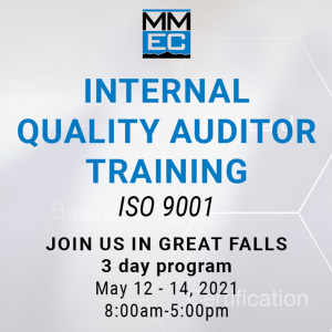 Internal Quality Auditor Training ISO 9001 is starting in Great Falls on May 12th