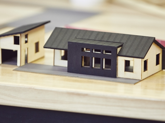 A small scale architecture house model. | MSU Photo by Adrian Sanchez-Gonzalez