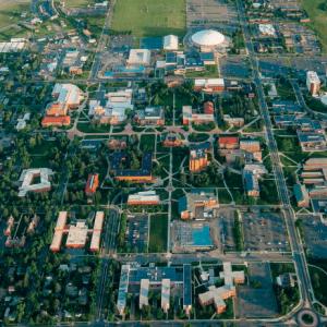 Campus aerial photograph