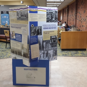 National Archive Women's Suffrage display
