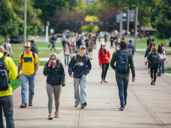 Students Walking Across Campus | MSU Photo by Adrian Sanchez-Gonzalez
