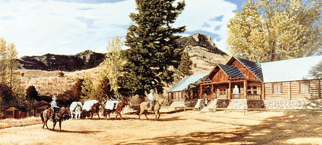 The OTO Ranch in Gardiner is  Montana's first dude ranch.