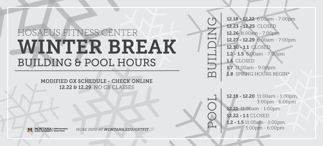 Fitness Center Winter Break Hours