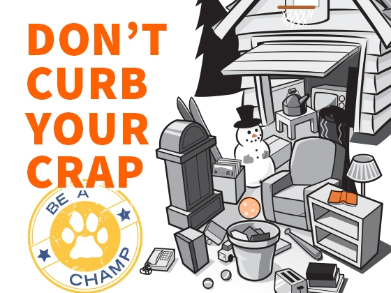 Be A Champ – Don't Curb Your Crap |