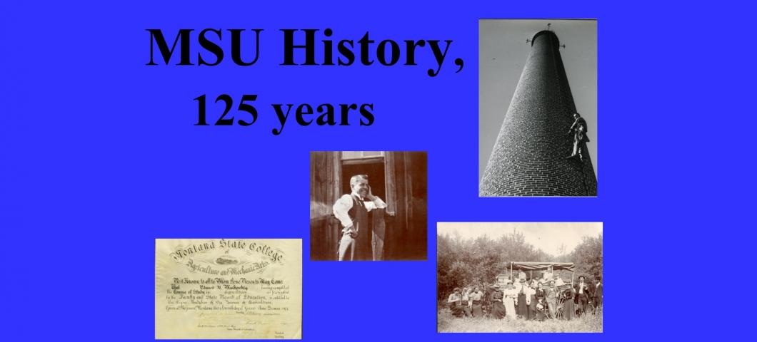 Spec Coll Display - MSU History - 4