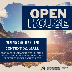 Join the MSU Leadership Institute for their annual Spring Open House on February 2nd from 11 a.m. to 1 p.m. on Centennial Mall.
