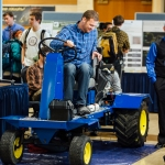 Montana State University senior students in the College of Engineering showcase their capstone projects during the Annual Engineering Design Fair on Thursday, April 27, 2017, in the Strand Union Building ballroom on campus. MSU Photo by Adrian Sanchez-Gonzalez