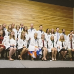 Thirty students in the MSU WWAMI Medical Education Program were formally inducted into the program during a white coat ceremony held in the Strand Union Building on campus, Friday, Sept. 2, 2016, in Bozeman, Mont. MSU photo by Adrian Sanchez-Gonzalez
