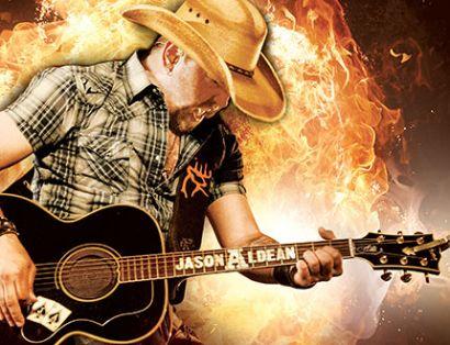 Jason Aldean plays guitar |