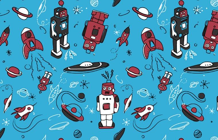 GroVia Pattern - Robots, 2013