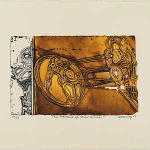 Juan Downey (b. Santiago, Chile, 1940, d. New York, New York, 1993) This Process of Communion, from the portfolio Awareness of Love, 1966,   color intaglio on paper