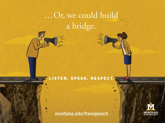 ... Or, we could build a bridge. Listen. Speak. Respect. |