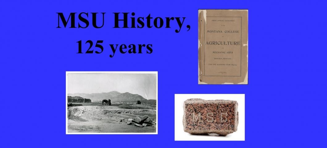 Spec Coll Display - MSU History - 1