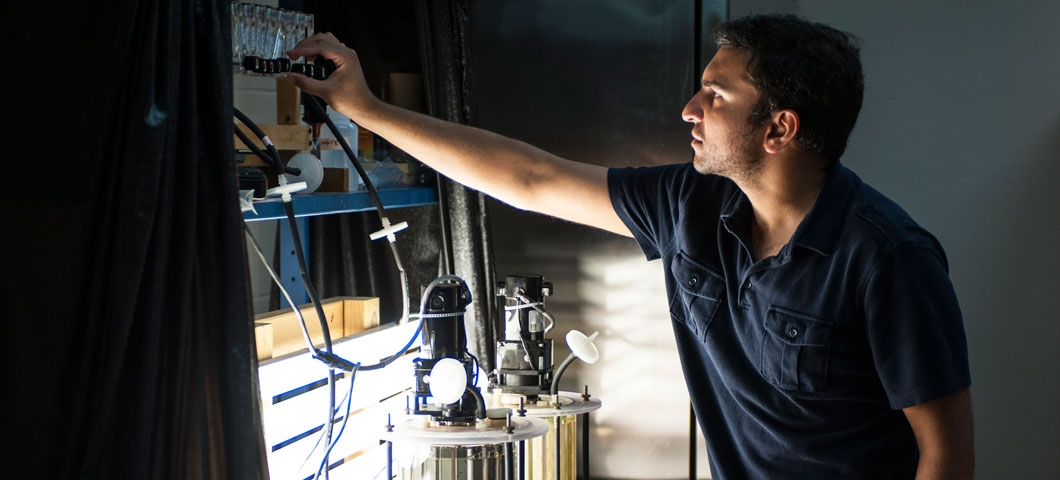 Muneeb Rathore, a PhD student in chemical and biological engineering.
