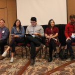 Five American Indian students from Montana State University shared their educational experiences earlier this semester at a national convention that is aimed at advancing educational programs and college and career opportunities of American Indian student